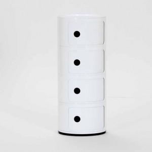 Kulatá skříňka Componibili - 4 zásuvky