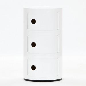 Kulatá skříňka Componibili - 3 zásuvky