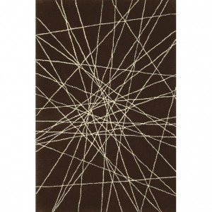 Koberec Lines - čokoládový