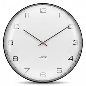 Nástěnné hodiny One bílé s arabskými číslicemi 45cm