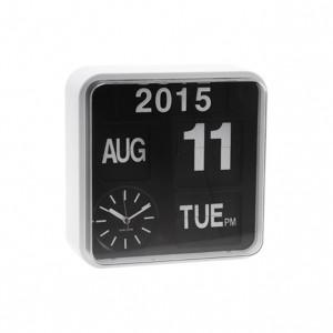Nástěnné hodiny Mini Flip bílé