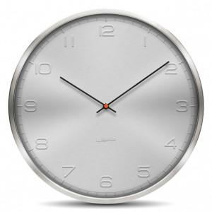 Nástěnné hodiny One stříbrné s arabskými číslicemi 35cm