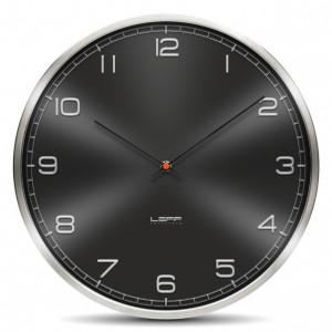 Nástěnné hodiny One černé s arabskými číslicemi 35cm