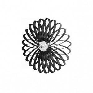 Nástěnné hodiny Spirograph černé 50cm