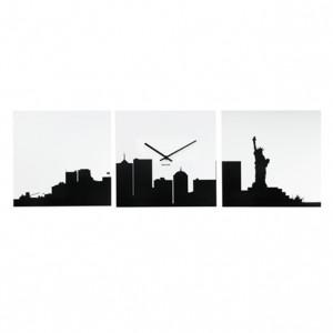 Nástěnné hodiny New York Skyline